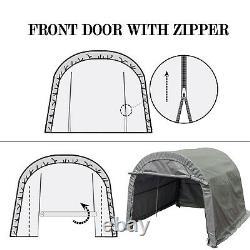 10x10 FT Carport Car Shelter Canopy Enclosure Kit Parking Tent Storage Shed Port