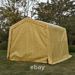 10x10x8ft Auto Shelter Portable Garage Storage Shed Canopy Carport Cover Shelter