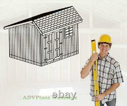 10x12 Saltbox Storage Shed 26 Barn Plans. Simple Step By Step Wood Plans CD