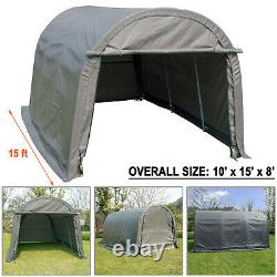 10x15 FT Canopy Carport Tent Car Shed Shelter Outdoor Storage Cover Sun UV Proof