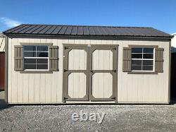 10x20 Painted Side Utility Shed
