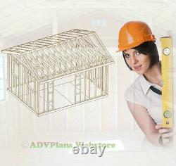 12x16 Gable Roof Backyard Shed Plans, Adv Plans Wood Shed Plans And Guides CD