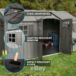 15' x 8' Rough Cut Dual-Entry Outdoor Storage Shed, 749 cu. Ft. Of storage space