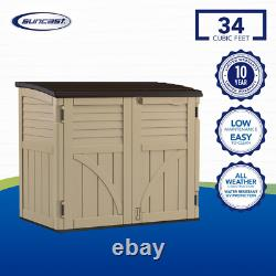 2 ft. 8 in. X 4 ft. 5 in. X 3 ft. 9.5 in. Resin Horizontal Storage Shed