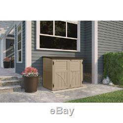 2 ft. 8 x 4 ft. 5 x 3 ft. 9.5 Resin Horizontal Storage Shed Heavy Duty New