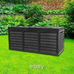 320L Lockable Plastic Box With Lid Small Shed Outdoor Storage Box