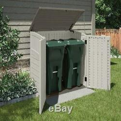 34 Cu. Ft. Resin Horizontal Outdoor Storage Shed with Reinforced Floor Vanilla