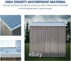 3.5X6FT Outdoor Garden Storage Shed Backyard Tool House Dog House With Floor Base