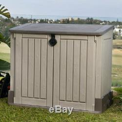 4 ft. W x 2.4 ft. D Plastic Horizontal Shed storage outdoor