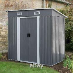 4 x 6 Ft Floor Base of Outdoor Storage Organizer Shed Horizontal Garden Patio