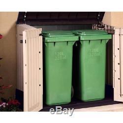 4ft x 2ft Garden Outdoor Horizontal Resin storage Shed Waterproof Lockable