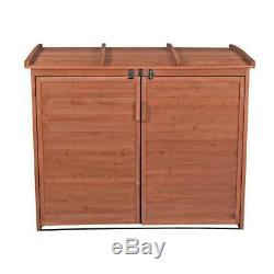 65 in. X 38 in. X 53 in. Cedar Large Horizontal Refuse Storage Shed
