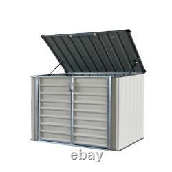 6 ft. W x 4 ft. D Lean To Garbage Metal Horizontal Storage Shed