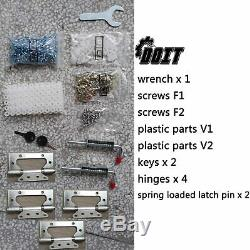 6'x4'x6' Outdoor Metal Garden Storage Shed Tool House with 2 Doors & Lock