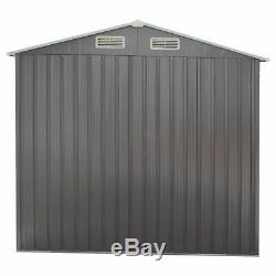6' x 4' Outdoor Storage Sheds Kit Steel Heavy Duty Storage Tool House Backyard