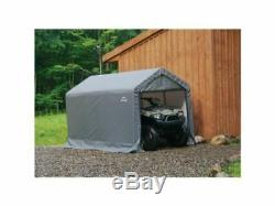6x10 Peak Style Storage Shed with 1.37 Frame Cover Gray