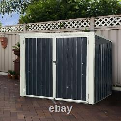 6x3FT Horizontal Storage Shed 68 Cubic Feet for Garbage Cans Tools Accessories
