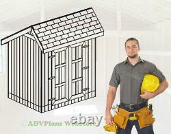 6x8 Classic Saltbox Storage Shed, 26 Utility Shed Plans, Adv Plans Wood Sheds