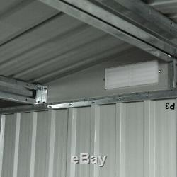 6x8 FT Outdoor Storage Shed Steel Garden Utility Tool Backyard Building Garage