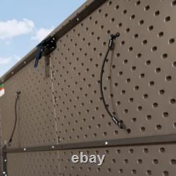 75 cu. Ft. Horizontal Storage & Utility Shed Vanilla Lawn Equipment Tools Bikes