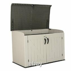 75cuft Outdoor Resin Storage Shed Horizontal All-weather Plastic Patio Container