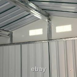 9x10.5x6ft Outdoor Garden Tool Shed Steel Metal Storage House Lockable DoorGreen