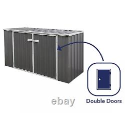 Absco 7' x 3' Horizontal Metal Storage Shed FREE SHIPPING