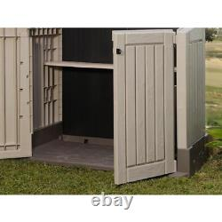 All Weather Storage Shed Outdoor Plastic Patio Container 4 ft. X 2 ft