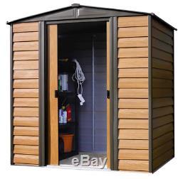 Arrow 6.36'W x 4.96'D x 6.6'H Woodridge Metal Storage Shed Kit NEW IN BOX