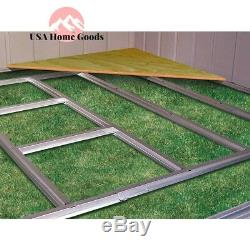 Arrow Floor Steel Frame Kit Hot Dipped Galvanized Outdoor Storage Shed Accessory