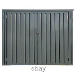 Arrow Horizontal Shed 6 ft. X 3 ft. 2-Lockable-Door Paintable Galvanized Steel