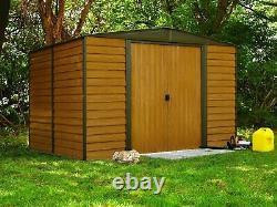 Arrow Sheds Euro Dallas Woodridge 10x12ft Steel Storage Garden Shed