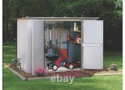 Arrow Sheds GS83-C Pent Roof Garden Shed, 8' x 3', Eggsheel/Taupe