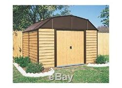 Arrow Sheds WH109 Woodhaven Steel Storage Shed 10 ft. X 9 ft. Woodgrain