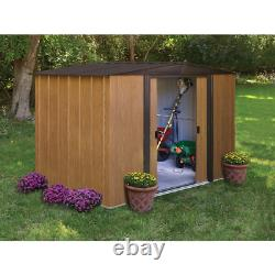 Arrow Sheds Woodlake Steel Outdoor Storage Garden Shed, 8 ft. X 6 ft