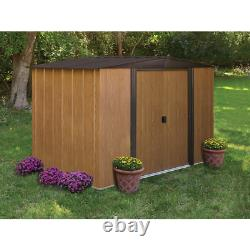 Arrow Sheds Woodlake Steel Outdoor Storage Shed, 8 ft. X 6 ft