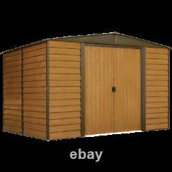 Arrow Sheds Woodridge Steel Outdoor Storage Shed 10 ft. X 6 ft