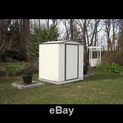 Arrow Storage Products EZEE Shed Steel Storage Shed, 6 ft. X 5 ft. Cream wit