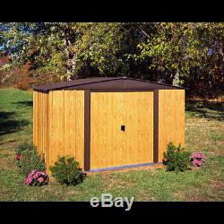 Arrow Storage Products Woodlake Steel Storage Shed, 10 ft. X 8 ft
