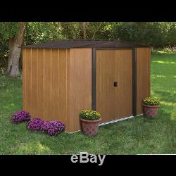 Arrow Storage Products Woodlake Steel Storage Shed, 8 ft. X 6 ft