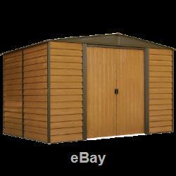 Arrow Storage Products Woodridge Steel Storage Shed, 10 ft. X 8 ft