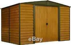 Arrow WR108 Woodridge EG, 10 by 8-Feet Steel Storage Shed, 10' by 8', Neutral
