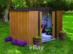 Arrow Woodlake 8-Feet by 6-Feet Steel 237 Cubic Feet of Garden & Storage Shed