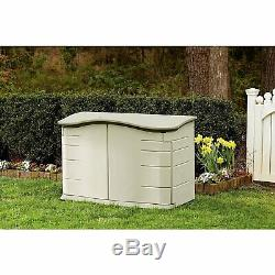 Box Horizontal Storage Shed Great Storing Patio Lawn Gardening Tools Supplies