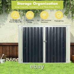 Costway 6X3ft Horizontal Storage Shed 68 Cubic Feet For Garbage Cans Tools