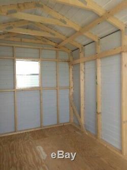 Crossorads Sheds Storage Shed 8'x10' Garden Steel Garage Tool shed Utility
