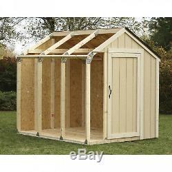DIY Building Kit Outdoor Storage Shed Garden Utility Garage Tool Backyard Lawn