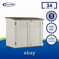 Durable Outdoor Storage Horizontal Utility Shed with Floor 53 x 31.5 x 45.5