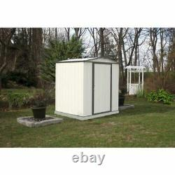 EZEE 6x5 Feet Low Gable Shed in Cream & Charcoal