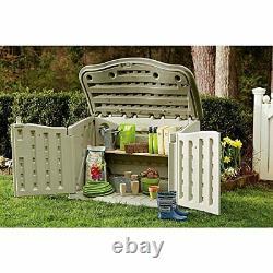 FG374801OLVSS Small Horizontal Resin Weather Resistant Outdoor Garden Storage